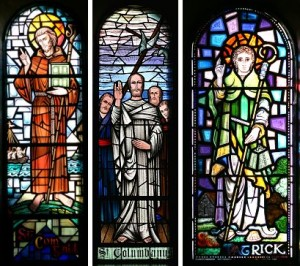 Stained Glass Window, Journey of Columbanus, St Columbanus Trail