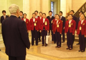 Korean Choir at Stormont Brian Wilson MLA Green Party